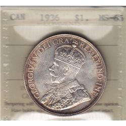 1936 Silver Dollar.