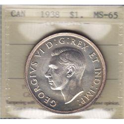 1938 Silver Dollar.