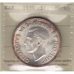 1939 Silver Dollar.