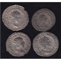 Group of 4 Roman Coins.