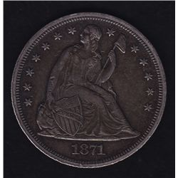 1871 United States of America Silver Dollar.