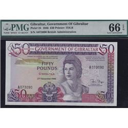 Gibraltar, Government of Gibraltar 50 Pounds.