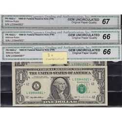 Nice Lot of GEM USA CGA Graded $1 Banknotes.