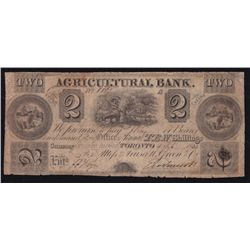 1834 Agriculture Bank $2.