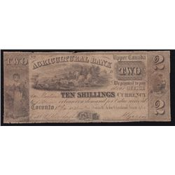 1835 Agriculture Bank $2.