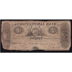 1834 Agriculture Bank $4.