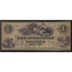 1859 Bank of Brantford $1.
