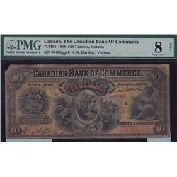 1888 Bank of Commerce $10.