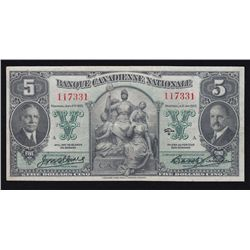 1929 Banque Canadienne Nationale $5.