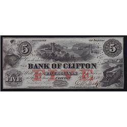 1859 Bank of Clifton $5.