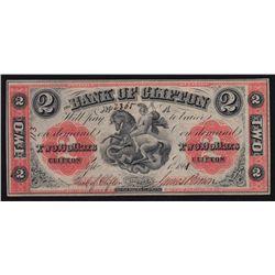 1861 Bank of Clifton $2.