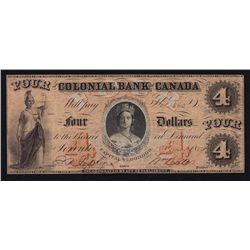 1959 Colonial Bank of Canada $4.