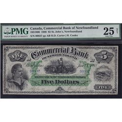 1888 Commercial Bank of Newfoundland $5.