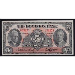 1938 Dominion Bank $5.