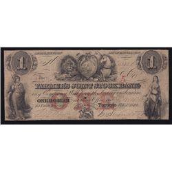 1849 Farmer's Joint Stock Bank $1.