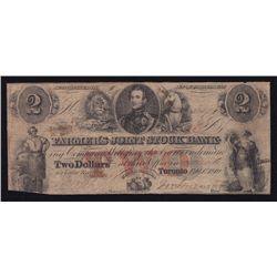 1849 Farmer's Joint Stock Bank $2.