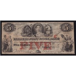1849 Farmer's Joint Stock Bank $5.