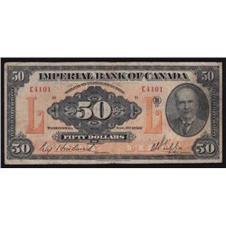 1923 Imperial Bank $50.