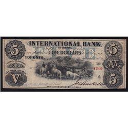 1858 International Bank $5.