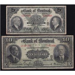 Lot of 2 Bank of Montreal.