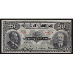 1923 Bank of Montreal $20.