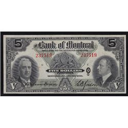 1938 Bank of Montreal $5.