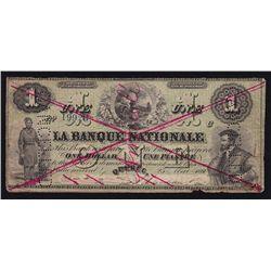 1860 La Banque Nationale $1.