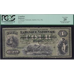 1870 Banque Nationale $4.