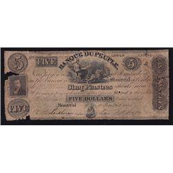 1835 Banque Du Peuple $5.