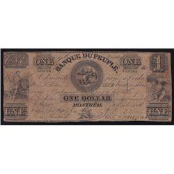 1836 Banque Du Peuple $1.