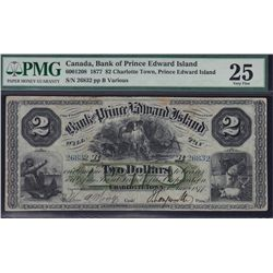 1877 Bank of Prince Edward Island $2.