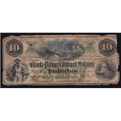 1872 Bank of Prince Edward Island $10.