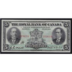 1913 Royal Bank of Canada $5.