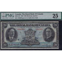 1927 Royal Bank of Canada $20.