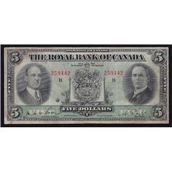 1933 Royal Bank of Canada $5