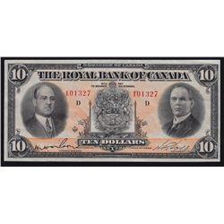 1933 Royal Bank of Canada $10.