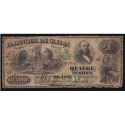1873 La Banque De St. Jean $4.