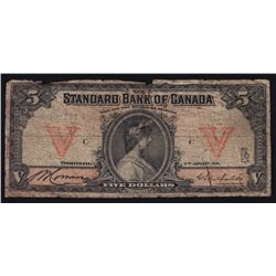 1914 Standard Bank of Canada $5.