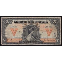 1919 Standard Bank of Canada $5.
