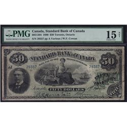 1890 Standard Bank of Canada $50.