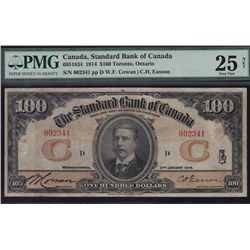 1914 Standard Bank of Canada $100.