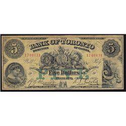 1923 Bank of Toronto $5.