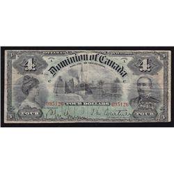1900 Dominion of Canada $4.