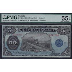 1912 Dominion of Canada $5.