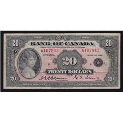 1935 Bank of Canada $20.