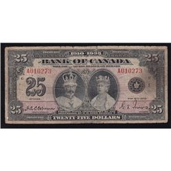 1935 Bank of Canada $25.