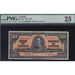 1937 Bank of Canada $50.