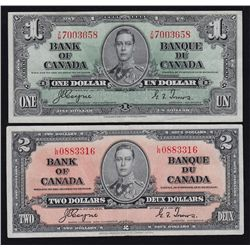 1937 Bank of Canada $1 - $100 Set.