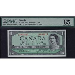 1954 Bank of Canada $1 Devil's Face Consecutive Pair.