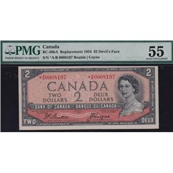 1954 Bank of Canada Devil's Face Replacement $2.